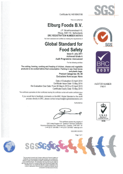 Elburg Foods B.V. Global Standard for o.. .e