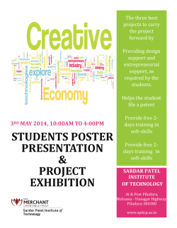 REPORT on the Project Fair of Final Year Students