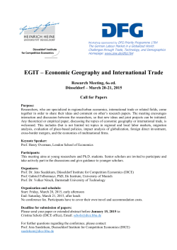 EGIT – Economic Geography and International Trade
