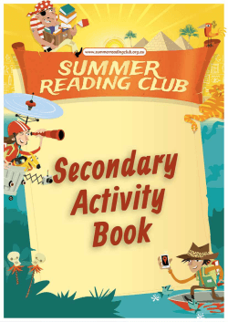 Secondary Activity Booklet (PDF 1.9MB).