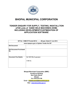 BHOPAL MUNICIPAL CORPORATION