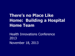 Hospital Home Teams - Government of Manitoba