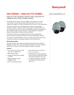 HDZ SERIES – ANALOG PTZ DOME Data Sheet