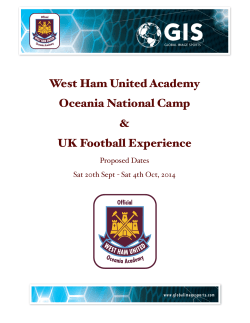 West Ham Academy Tour Proposal