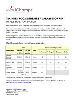 training rooms/theatre available for rent in hdb hub