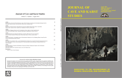 journal of cave and karst studies