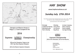 Download / View 2014 Hay Horse Show Schedule V2