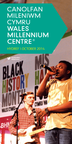 HYDREF \ OCTOBER 2014 - Wales Millennium Centre