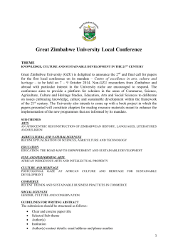 Great Zimbabwe University Local Conference