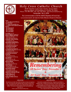 Bulletin November 1-2, 2014 - Holy Cross Catholic Church