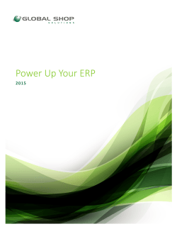 Power Up Your ERP - Global Shop Solutions