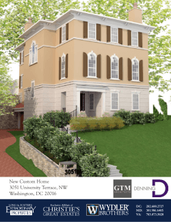 New Custom Home 3051 University Terrace, NW