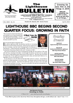 lighthouse bbc begins second quarter focus: gro ter focus: gro ter