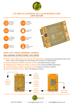why gtt data modem cards? lte mini pci express cellular