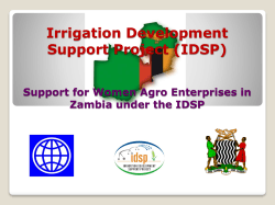 The Irrigation Development and Support Project, by Dr. Barnabas