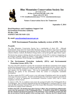 NSW Environment Protection Authority review of EPL 726