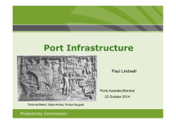 Paul Lindwall - Port Infrastructure