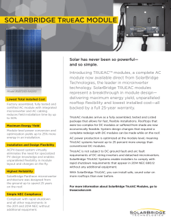 SolarBridge TrueAC Data Sheet ()