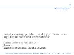 Level crossing problem and hypothesis testing