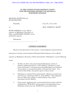 consent decree in Matwyuk v. Johnson (W.D.