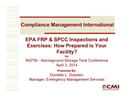 FRP/SPCC Inspections