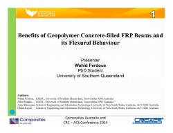 Benefits of Geopolymer Concrete-filled FRP Beams and it Fl l B hi its