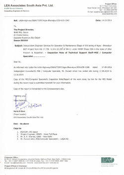 Inspection Note of Technical Support Staff–MIS Computer
