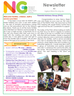 Newsletter #2 NGEYC - Newport Gardens Early Years Centre