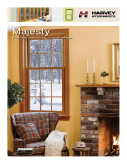 Majesty Wood Windows Brochure