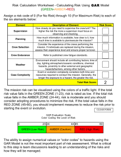 GAR Form (Small Boat Unit Risk Assessment Worksheet).