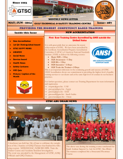 MAY-2014 NEWSLETTER