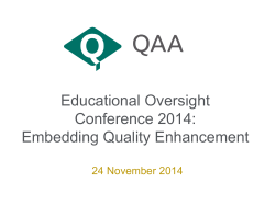Outcomes from Educational Oversight, Rachael Gee, Assistant