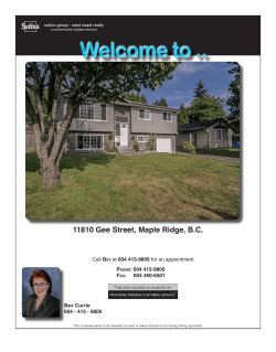 11810 Gee Street, Maple Ridge, B.C.