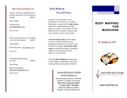 Body Mapping for Musicians
