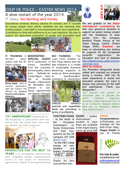 Newsletter Easter 2014