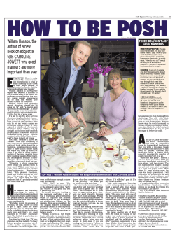 William Hanson, the author of a new book on etiquette, tells