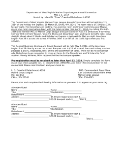 Registration Form - Marine Corps League Department Of West Virginia