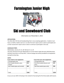 Farmington Junior High Ski and Snowboard Club