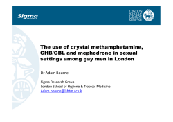 The use of crystal methamphetamine, GHB-GBL and
