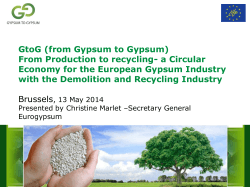 From Production to recycling- a Circular Economy for the European