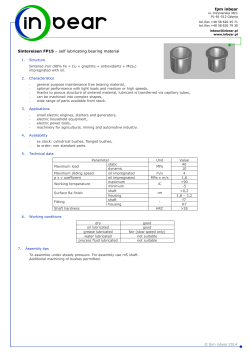 FP15 - sintered iron bushes