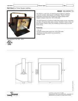 W420 Spec Sheet - Times Square Lighting