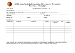GBA Nomination Form - Griffith Basketball