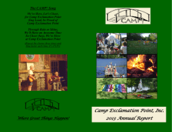 Camp Exclamation Point, Inc. 2013 Annual Report