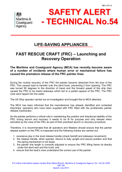 Technical Safety Alert 54: Life Saving Applicances Fast