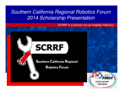 Award presentation slides at 2014 Los Angeles Regional FRC