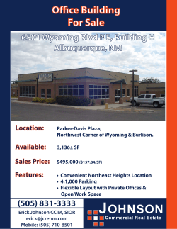 View PDF Brochure - Johnson Commercial Real Estate