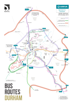 area maps and bus routes - Durham Sixth Form Centre