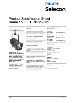 Product Specification Sheet Rama 150 FFT PC 5