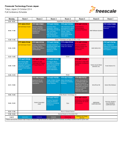 6 October 2014 Full Conference Schedule